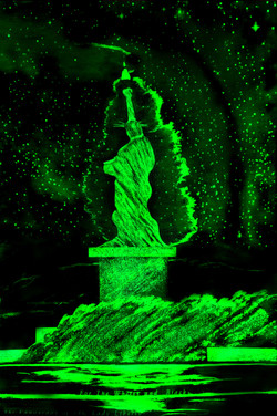 5 Green LED Liberty. Blacks Whites SheroesNY