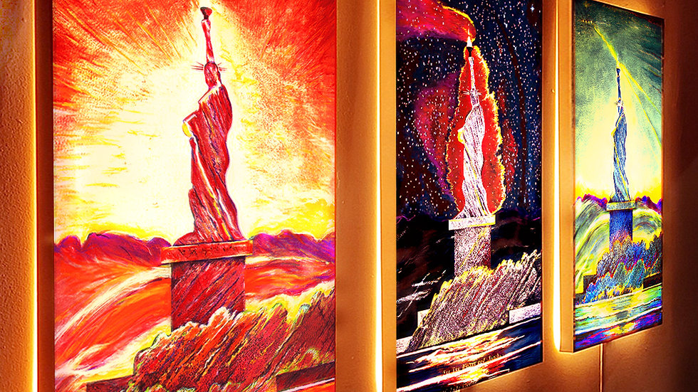 Life 21c Liberties Triptych · 3 LED TransLucent Canvas Set