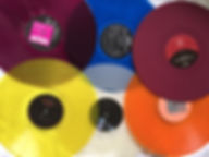 colored vinyl albums, vinyl records, LP'