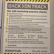 COVID-19 Our safe workshop practice char
