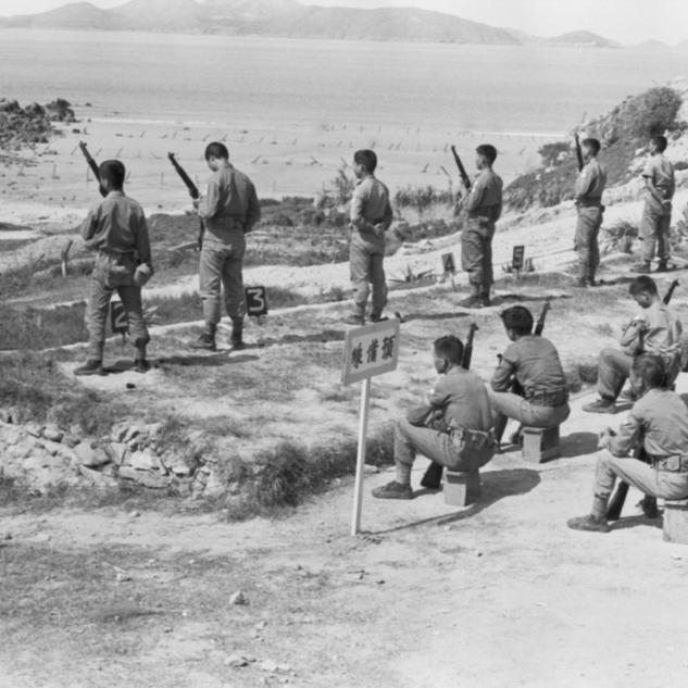海邊射擊訓練