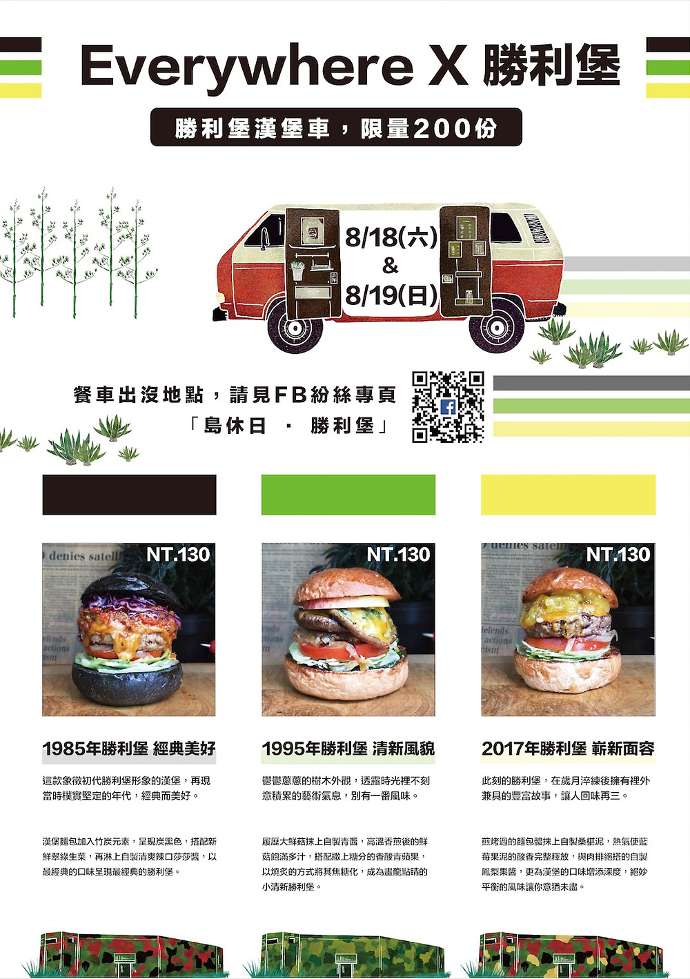 勝利堡漢堡快餐車 活動海報
