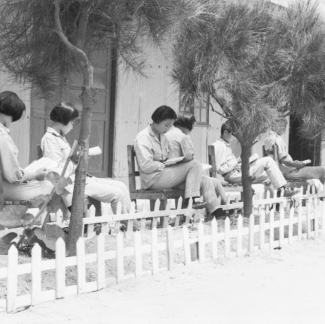 中學生戶外讀書