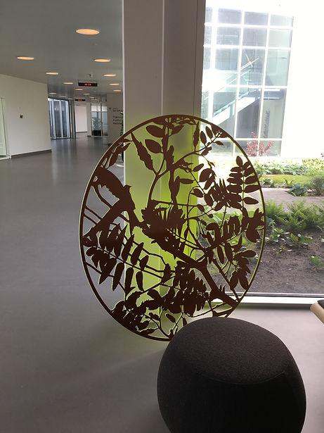 Fredskov - 2  Del 2: 15stk. cirkulære vægobjekter. 150cm diameter. 
