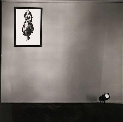 HIMMELLEGEMER Fotografimed afmasket lys.. Charlottenborg + Museum Müscarnok, Budapest,1990. Gruppeudstillingen 'Triumf det Ubeboelige'