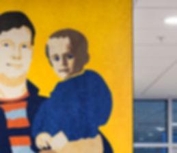 Nyt Sygehus Sønderjylland Aabenraa, indviet 2015  Kunstprojekt i ankomsthal, Bygherre: Region Syd
