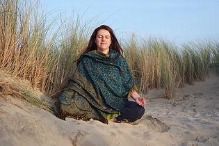 Séverine Couret en méditation
