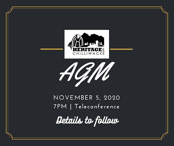Heritage Chilliwack 2020 AGM