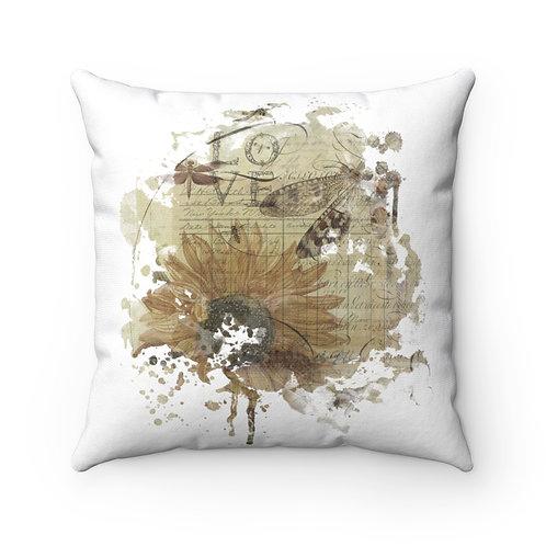 Botanical Collage No.080-Spun Polyester Square Pillow