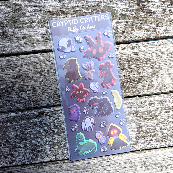 Cryptid Critters Puffy Stickers