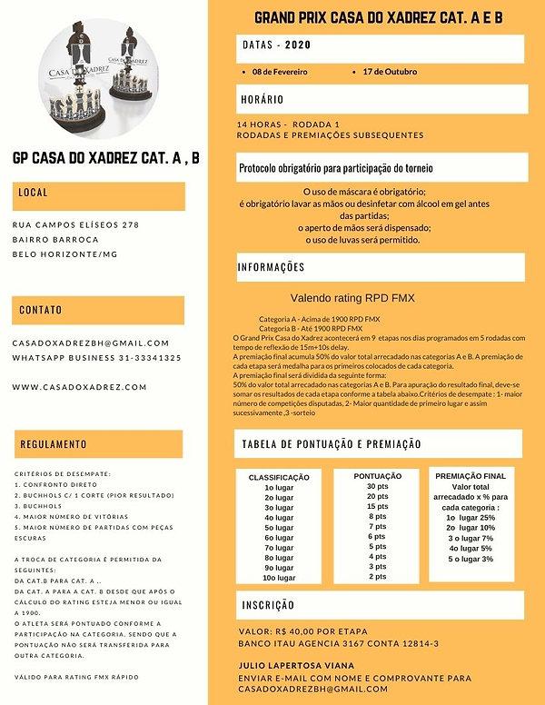 GRAND PRIX CASA DO XADREZ 2020 (reformul