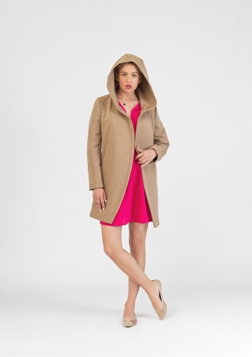 Extravagant hooded coat