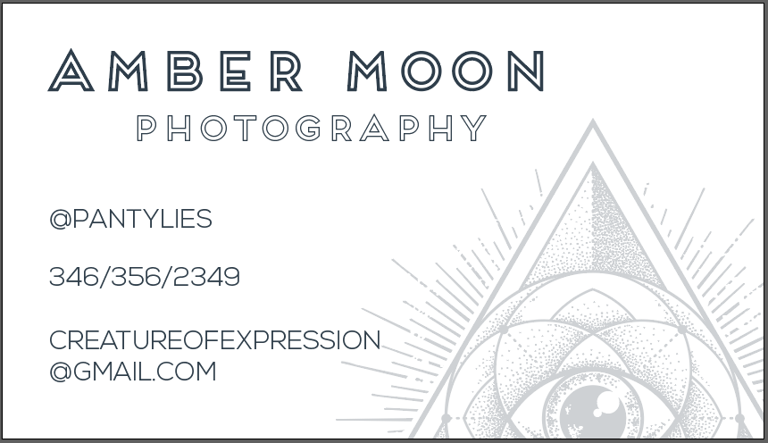 Amber Moon Business Card