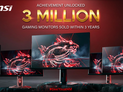Achievement Unlocked- 3M Gaming Monitors Sold within 3 Years
