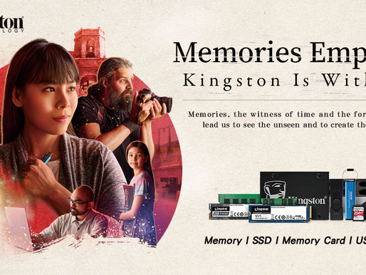 Kingston inspiring people with the power of memories with its new ''Kingston Is With You'' campaign.