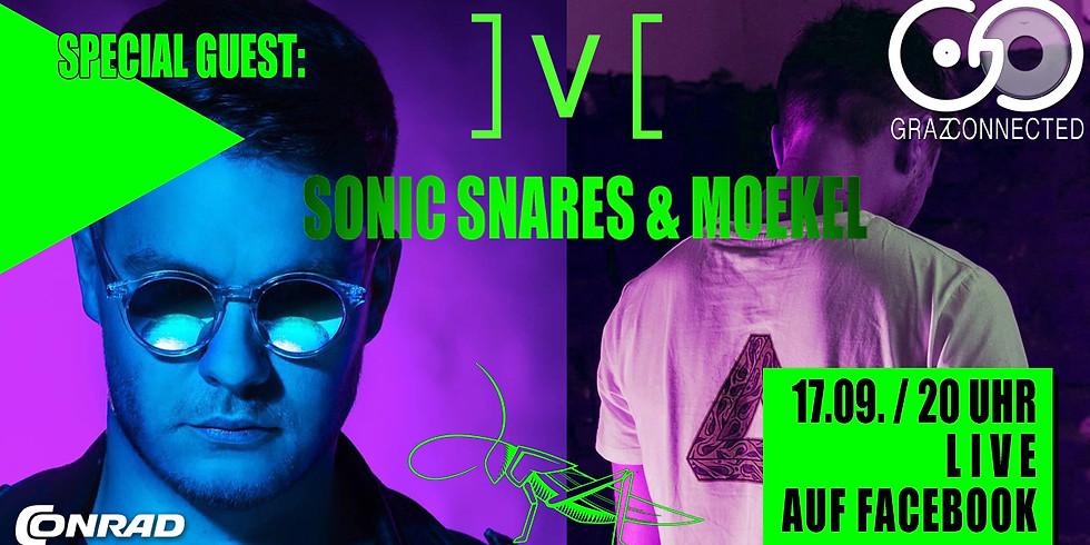 Graz Connected mit special Guest: Sonic Snares, Moekel feat. Josef, Held & mvtthivs