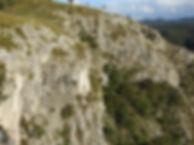 limestone cliffs slovenia