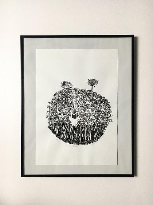 """""""Clover patch,"""" 2020, art print"""