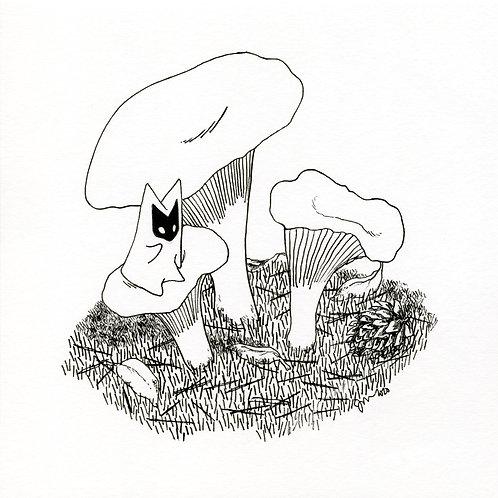 """Kanterelli"", 2020, ink illustration"