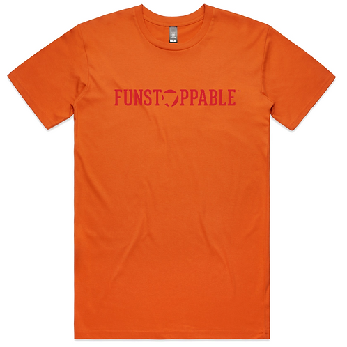 FUNSTOPPABLE FLAGSHIP ORANGE T-SHIRT