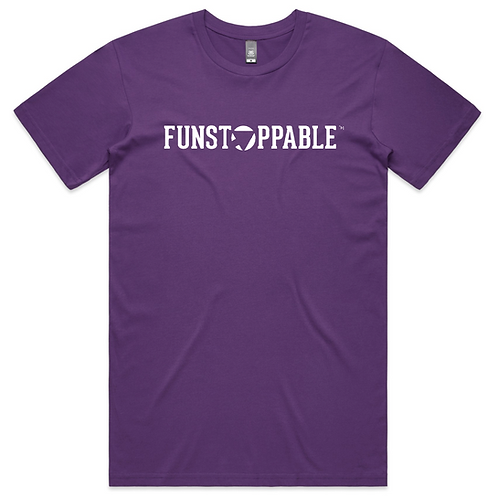 FUNSTOPPABLE FLAGSHIP PURPLE T-SHIRT