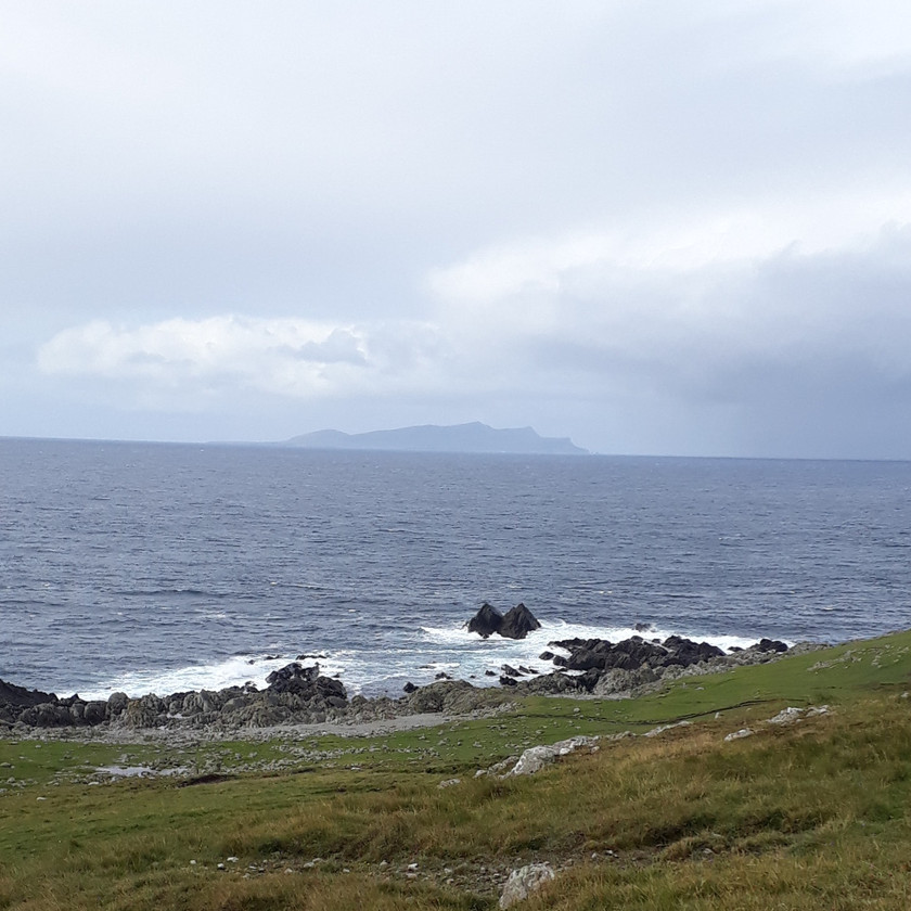 Foula in the distance