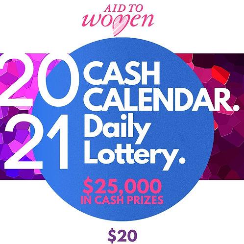 2021 Aid to Women Cash Calendar