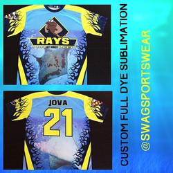 Full dye sublimation #custom #designs #florida #softball #sports #orlando #uniforms