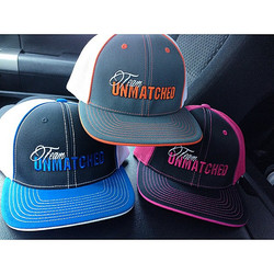 New custom hats for #UnmatchedNutrition 👉check them out! _str8swagon _alexis_giddens #GetYourFitnes