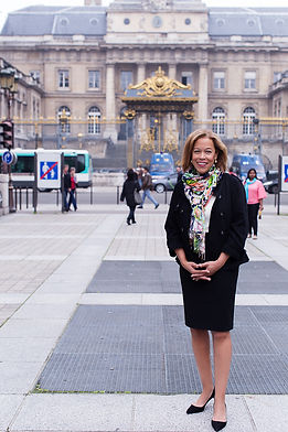 Barbara J Macon at the Palais de Justice, Paris