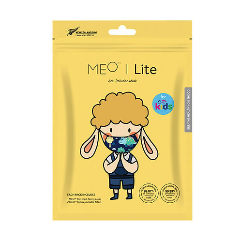 Meo Lite Kids Face Mask Dinosaur with replaceable filters