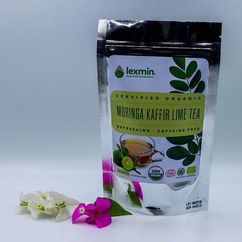 Lexmin Organic Moringa Kaffir Lime Tea sachets