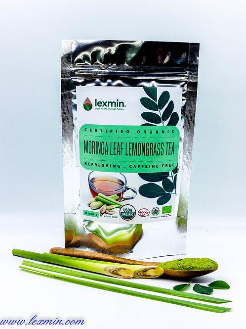 Lexmin Organic Moringa Lemongrass Tea Sachets