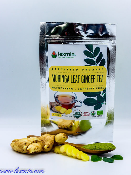 Lexmin Organic Moringa Ginger Tea 30 Sachets