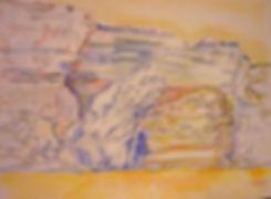 """Bonifacio V, Les Grains de Sable, 1991, charcoal/watercolor, 30 x 22.5"""""""