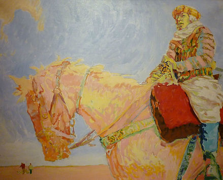 Sur Le Palefroi (Tunisie), 1989, alkyd/canvas, 32 x 26""