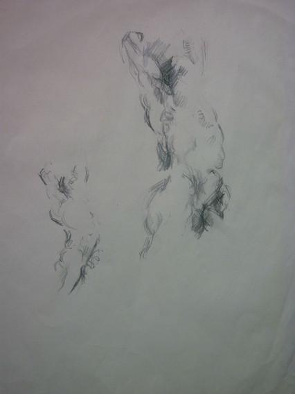 "graphite, 11.5 x 15.5"", signed"