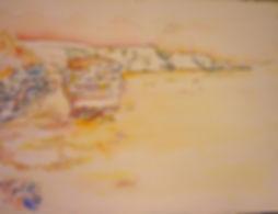 "Bonifacio IV, Bonifacio Le Grain de Sable, 1991, charcoal/watercolor, 30 x 22.5"""