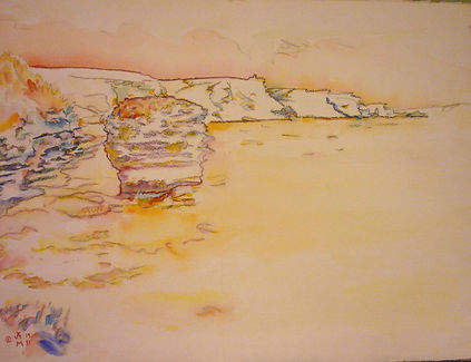 Bonifacio IV, Bonifacio Le Grain de Sable, 1991, charcoal/watercolor, 30 x 22.5""