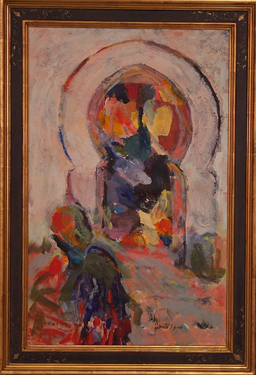 Untitled, 1999, framed, alkyd/canvas, 19.5 x 28""