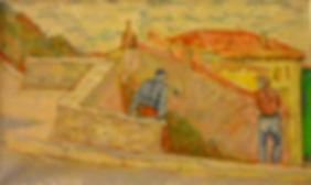 """Bonifacio 10, Desente vers la marine, 1991, oil/alkyd/canvas, 22 x 13"""""""