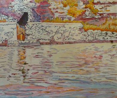 "Bonifacio 30 - Anciens Lavoirs, 1991, oil/canvas, 36 x 24"""
