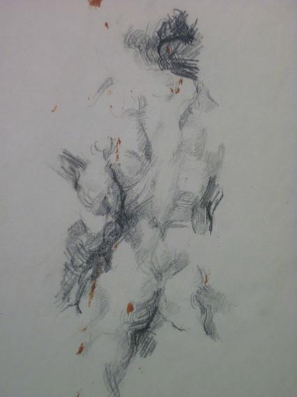 "graphite, 11.5 x 15.5"", signed 1970"