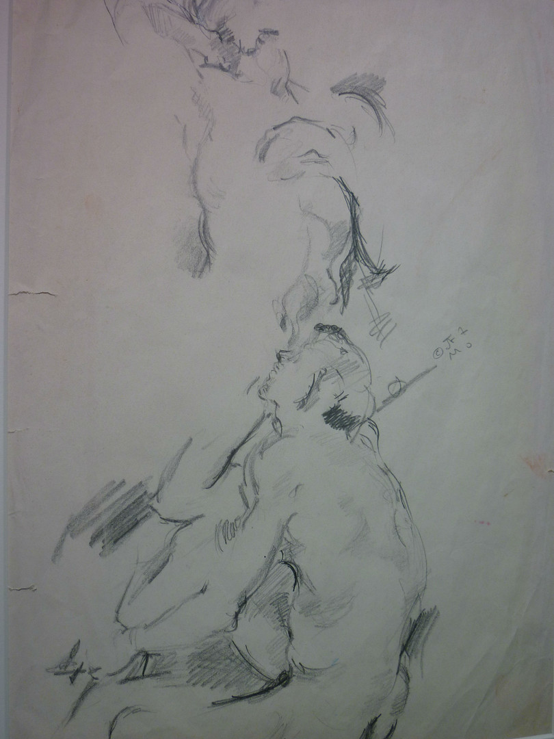 "graphite, 1997, 11 x 13"", signed"