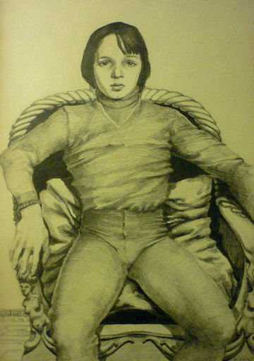 """Untitled, graphite, 12/5/1976, 8.25 x 11.75"""", signed Ref: DL-MISC-068"""