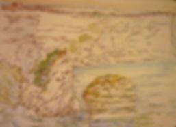 "Bonifacio VI, Bonifacio Le Grain de Sable, 1991, charcoal/watercolor, 30 x 22.5"""