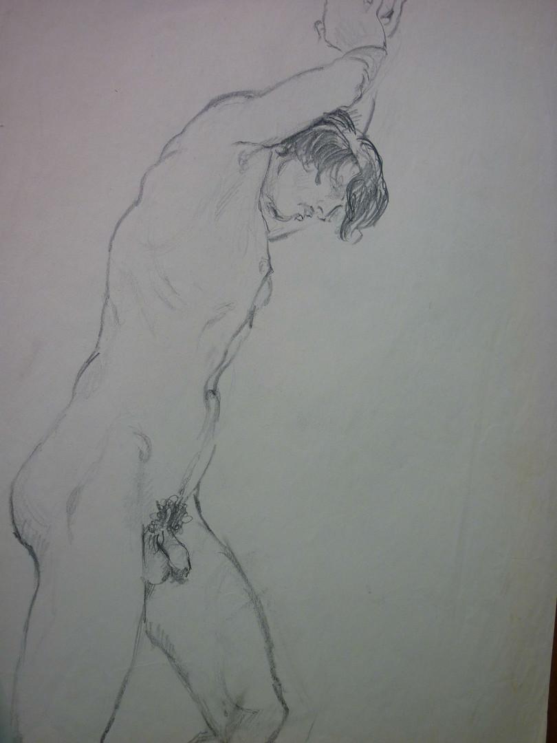 "Yves Bernable, classmate, graphite, 15.5 x 11.5"", signed"
