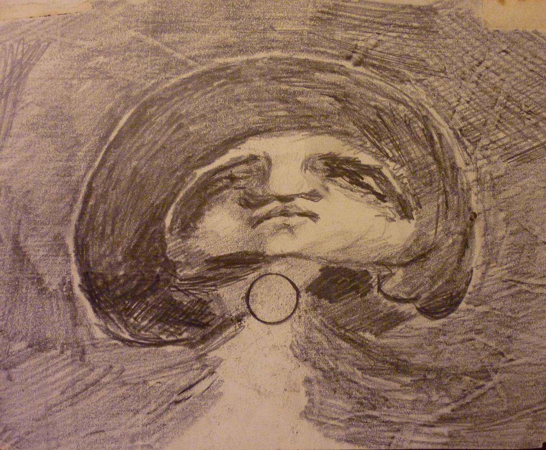 """Untitled, graphite, 6.5 x 8.5"""", stamped Ref: DL-MISC-065"""