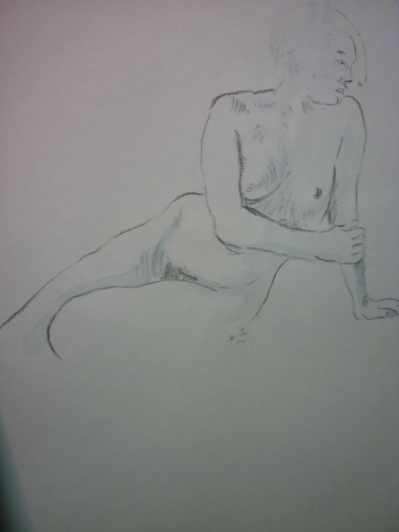 "Untitled, graphite, 14.5 x 18"""