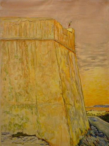 """Bonifacio Citadelle, 1991, alkyd/canvas, 21.5 X 29"""""""